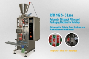 Stick Pack Packaging Machine For Ketchup - 3 Line
