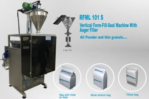 Vertical Form fill & seal, packaging machine with auger filler
