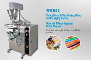 Fully Automatic Vertical Form 4- Side Sealing, Filling and Packaging Machine